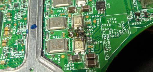 Uszkodzona sekcja W510