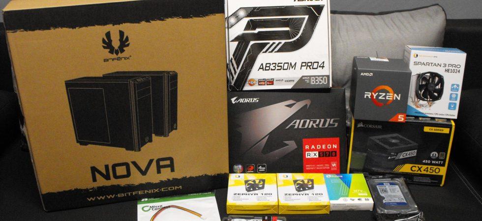 Sprzęt dla komputera Ryzen 5 1600